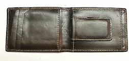 Front Pocket Wallet with Magnetic Money Clip - Dark Brown