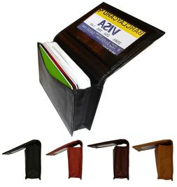 Genuine Leather 18+ Credit Card ID Business Card Holder Mens