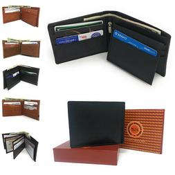 Casaba Genuine Leather Bifold Wallets Cash Slots ID Coin Key