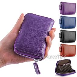 Genuine Leather Credit Card Case Wallet for Men or Women Saf