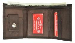 GENUINE LEATHER KIDS SMALL TRIFOLD/MONEY WALLET BY MARSHAL B