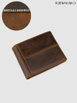 Genuine Leather Mens Womens wallets ID Credit Card RFID bloc