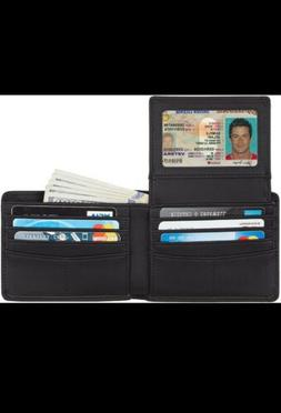 Travelambo Genuine Leather RFID Blocking Wallets Mens Wallet