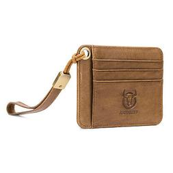 Genuine Leather Wallet Men Coin Purse Small Walet Rfid Mini