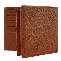 Genuine Leather Wallets For Men Bifold Wallet 2 Flip-Up ID S