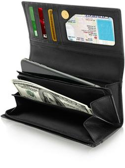 Genuine Leather Wallets For Women - Ladies Accordion With ID