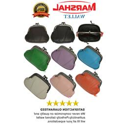 GENUINE LEATHER WOMEN'S SMALL COIN PURSE CHANGE HOLDER DOUBL