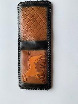 Handmade Genuine Mens Leather Wallet Made in USA