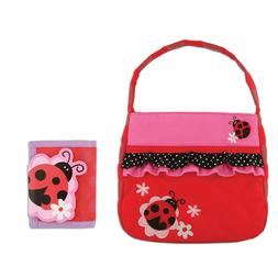 Stephen Joseph Girls Quilted Ladybug Purse and Wallet for Ki