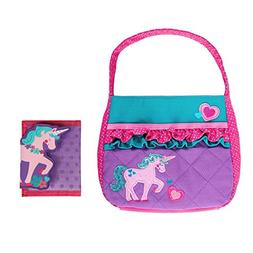 Stephen Joseph Girls Quilted Unicorn Purse and Wallet