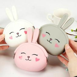 Girls Wallets Fashion Coin Purse Pouch For Women Soft Silico