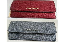 MICHAEL KORS Glitter Slim Envelope Wallets NWTs 2 COLORS TO