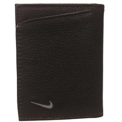 Nike Golf Men's Leather Pebble Grain Tri-Fold Wallet, Brown