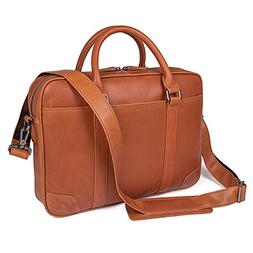 Texbo Genuine Leather 15.6 Inch Laptop Briefcase Messenger B