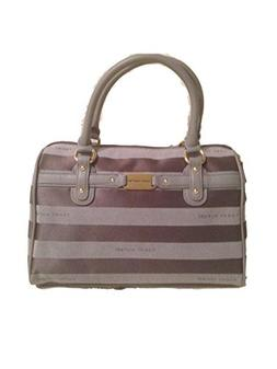 Tommy Hilfiger Grey Medium Satchel Handbag OS/TU # 692562304