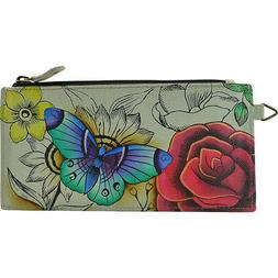 ANNA by Anuschka Hand Painted Leather Credit Card Women's Wa
