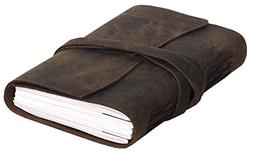 Handmade Leather Journal/Writing Notebook/Bound Daily Notepa