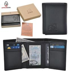 Estalon Handmade Men's Rfid Blocking Genuine Leather Trifold