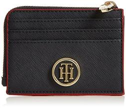 Tommy Hilfiger Honey Zip Card Holder, Women's Wallet, Blue