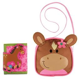 Stephen Joseph Horse Crossbody Purse and Horse Wallet Combo