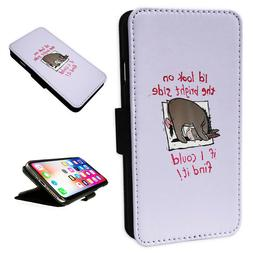 FOR IPHONE 11 - Eeyore Lilac - Flip Phone Case Wallet Cover