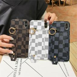 For iPhone 11 Pro Max XS Max XR X 8 7 Leather Wrist Strap St