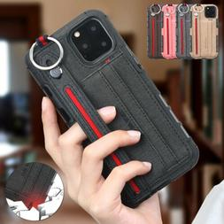 For iPhone 11 Pro Max XS XR Luxury Leather Cloth Buckle Stra