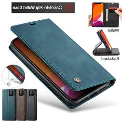 iPhone 12 11 Pro XS Max XR 8 7 Plus Case Magnetic Leather Wa