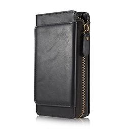 Galaxy S8 Wallet Case,TACOO Soft Leather Card Holder Money S