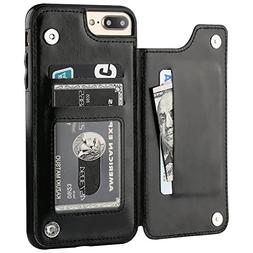 iPhone 7 Plus iPhone 8 Plus Wallet Case with Card Holder, OT