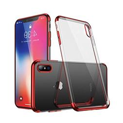 iPhone X Case,Electroplated Frame Clear Cell Phone Case,Ultr