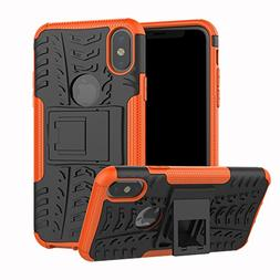 iPhone X/XS Case, Dooge Dual Layer TPU+PC Heavy Duty Protect