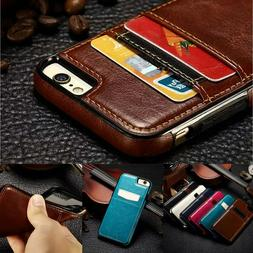For iPhone X/XR/XS Max 7 8 Plus S10 S9 Plus Leather Card Hol