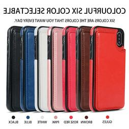 For iPhone X/XS XR / XS Max Leather Wallet Case Card Slot Fl