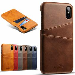 For iPhone XS Max/XR/X/11 Pro Max/7 8 Plus Leather Wallet Ca