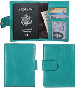 Banuce Italian Leather Passport Cover Card Holder Travel Wal