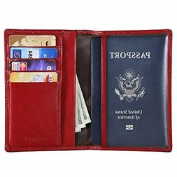 italian leather passport holder for men women