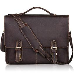 Jack&Chris NEW ARRIVAL Leather Briefcase Twin Buckle Men's M