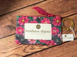 simply southern Key Chain Wallet ID  NWT Pink Flowers Floral