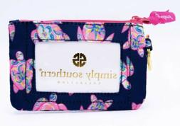 Simply Southern Keychain Wallet ID Holder NWT Navy Pink Gree