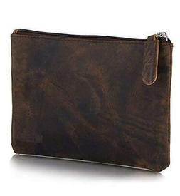 KomalC Leather Pen Pencil Stationery Case Pouch Sleeve