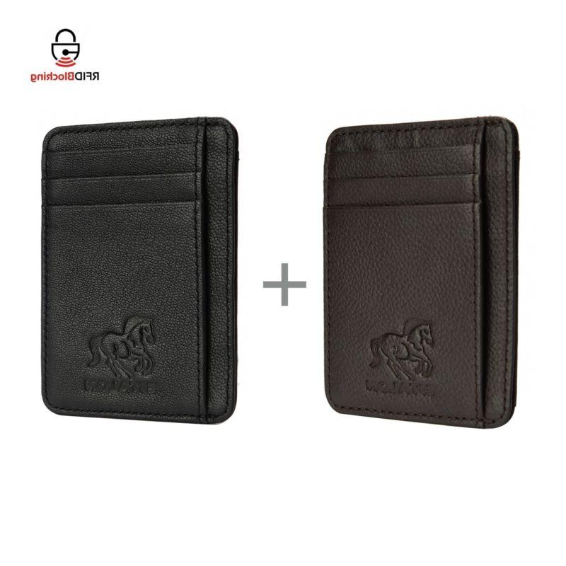 Estalon 2 Front Pocket Wallet Specialy For MoneyCards An Id