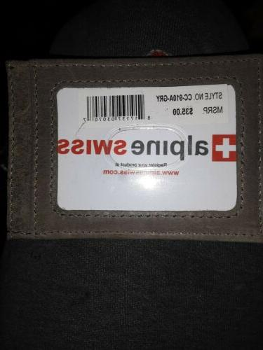 Alpine Swiss Front Wallet grey