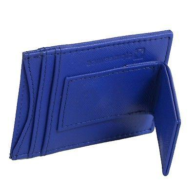 AlpineSwiss Mens Leather Clip Magnet Wallet Slim ID Card Case