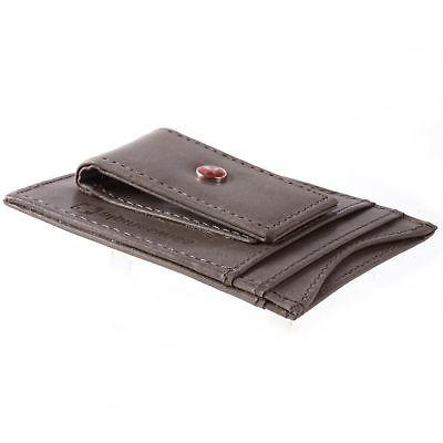 AlpineSwiss Mens Leather Clip Wallet Slim Case