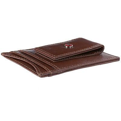 AlpineSwiss Mens Clip Front Wallet Case
