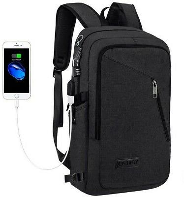 Anti-theft Backpack Laptop Book School with Charger