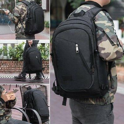 Anti-theft Laptop Book School Bag with BLAC