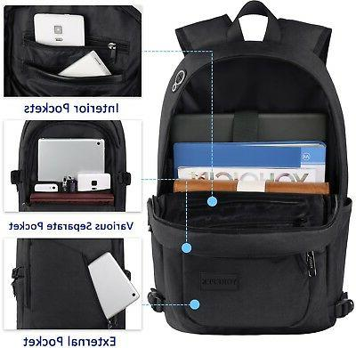 anti theft travel backpack business laptop book