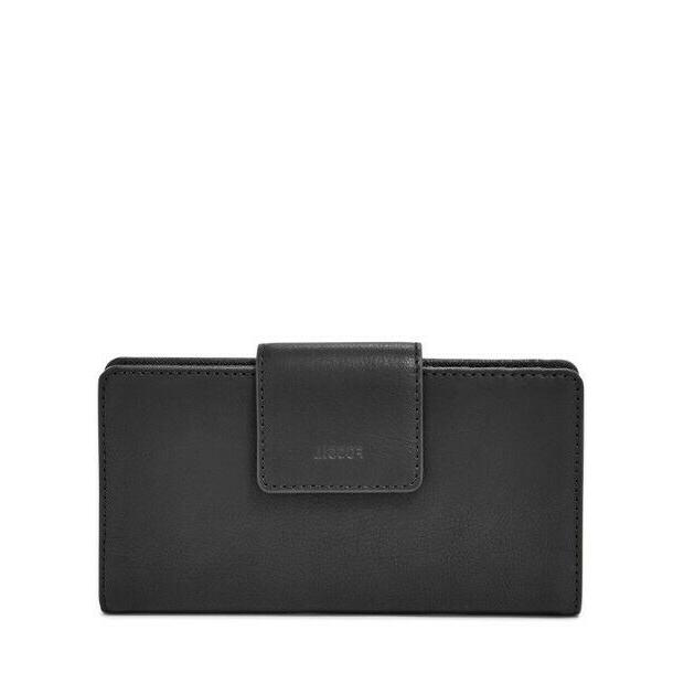 authentic emma rfid leather tab clutch leather
